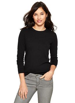 GAP Luxelight Sweater in True Black Knit